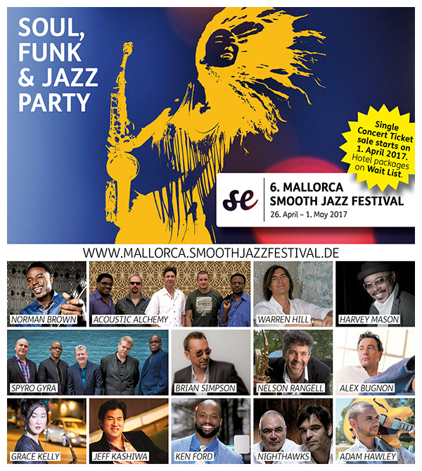 7th MALLORCA SMOOTH JAZZ FESTIVAL 2017