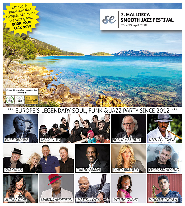 7th MALLORCA SMOOTH JAZZ FESTIVAL 2018